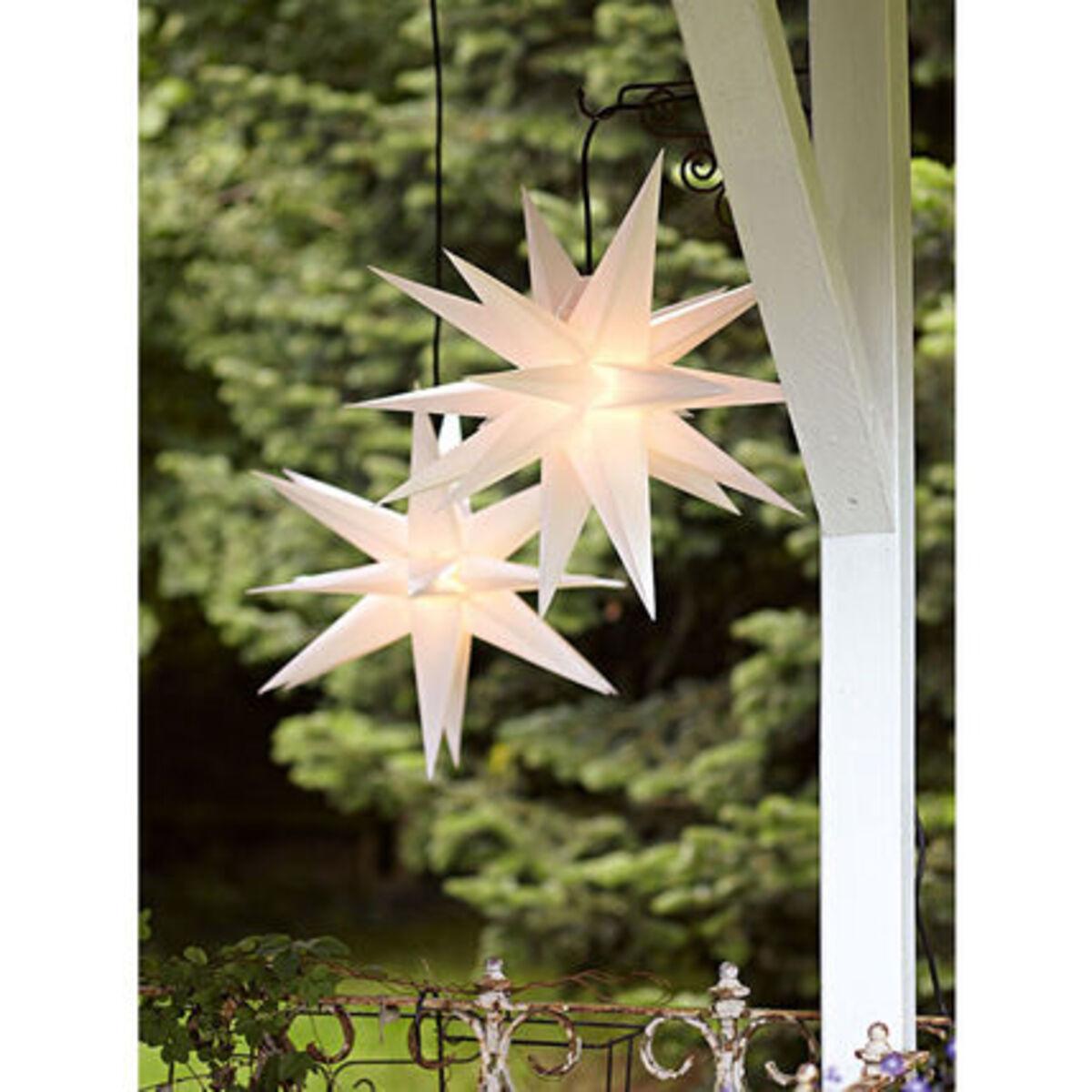 Bild 3 von Yorn Home Outdoor-Leuchtstern, Weiß, Ø 50 cm, weiß