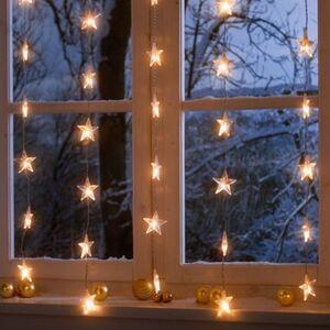 Pureday LED-Lichterkette 'Sternenvorhang', transparent, transparent