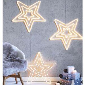 Pureday LED-Deko-Objekt 'Multi-Stern', Warmweiß, Kunststoff, Kupfer, Eisen, warmweiß