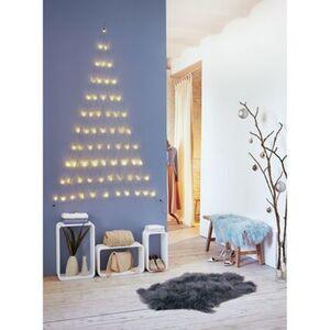 Pureday LED-Vorhang 'Tannenbaum', Weiß, Kupfer, LEDs, weiß