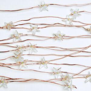 Pureday Lichterregen 'Sterne', Kupferfarben, Draht, Kunststoff, standard