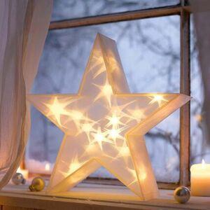 Pureday LED-Deko-Objekt, groß '3D-Stern', beige, beige