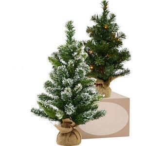 Weihnachtsbaum im Jutesack, beschneit, 60 cm
