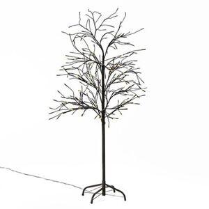 Pureday LED-Baum 'Trauerweide', Braun, Metall, Kunststoff, LEDs, braun