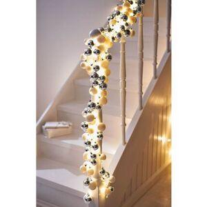 Pureday LED-Girlande 'Glam', Silberfarben, Kunststoff, silberfarben
