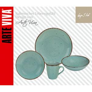 Arte Viva Kombi-Set Natur, türkis/beige, 16-teilig, mehrfarbig
