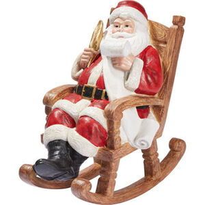 """Galeria Selection Weihnachtsfigur """"Weihnachtsmann im Schaukelstuhl"""", 25 cm"""
