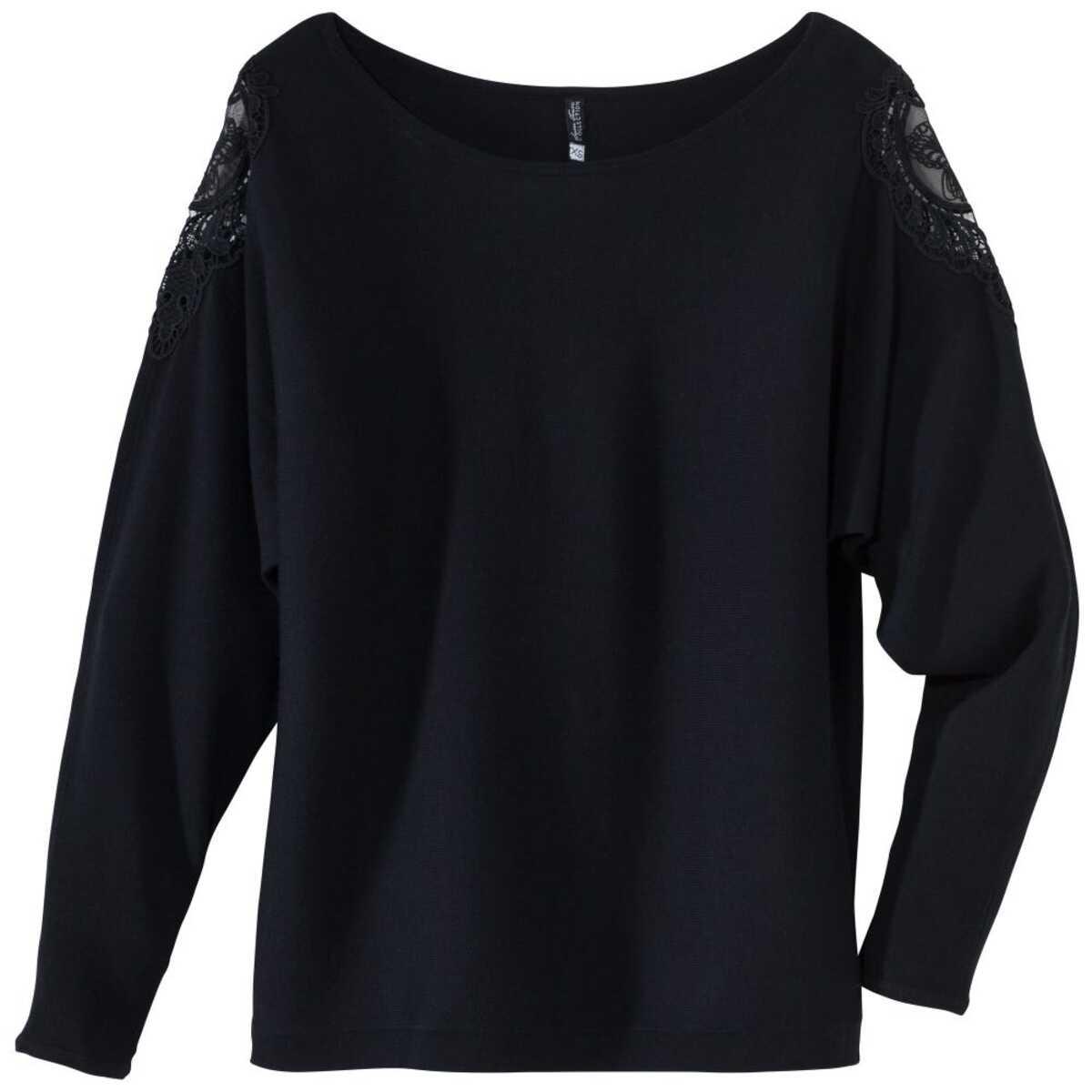 Bild 2 von Damen-Pullover mit Spitzeneinsatz an der Schulter