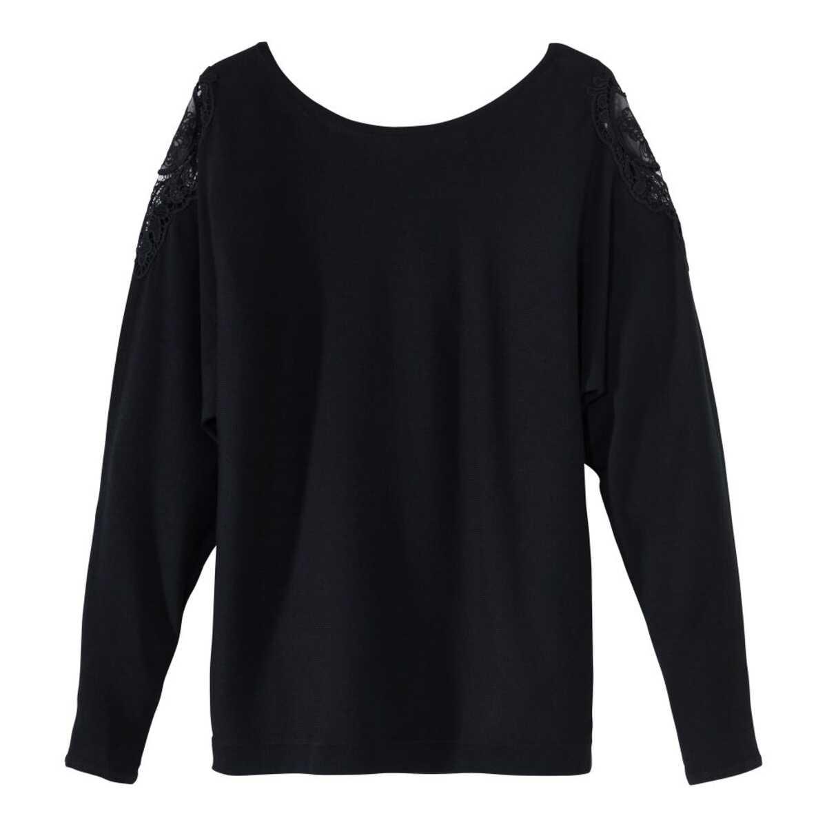 Bild 3 von Damen-Pullover mit Spitzeneinsatz an der Schulter