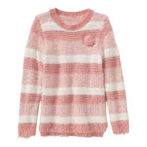 Mädchen-Pullover mit Streifenmuster