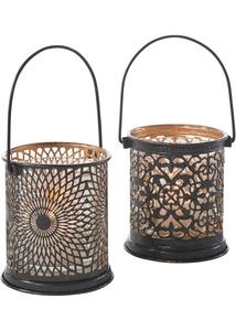 Windlichter mit ausgestanzten Ornamenten (2er Pack)