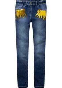 Skinny-Jeans mit Pailletten