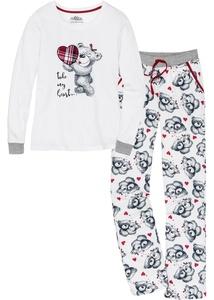 Pyjama mit Flanellapplikation