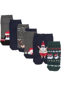 Kurzsocken Weihnachten (6er-Pack)