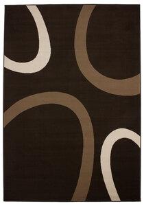 "Flachflor-Teppich ""USA Dallas Kaffee"", 120x170cm"