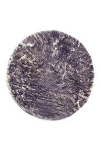 """Teppich """"Crown 110 Weiß⁄Petrol"""", Ø160cm Rund, Schaffellimitat"""