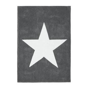 """Kurzflorteppich """"Cameroon - Douala Grau"""", 120x170cm"""