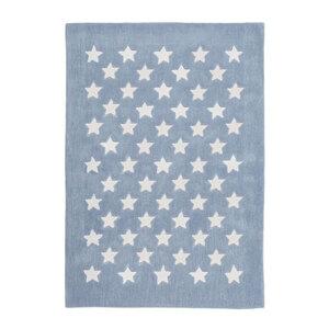 """Kurzflorteppich """"Cameroon - Mora Pastellblau"""", 120x170cm"""