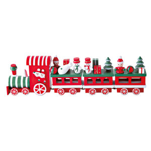 Holz-Eisenbahn 30x4x8 cm, bunt