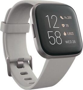 Fitbit Versa 2 (NFC), Alu, steingraues Armband