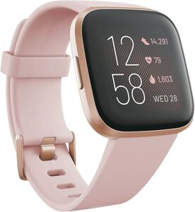 Fitbit Versa 2 (NFC), Alu, cremefarbenes Armband