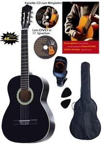 Clifton 4/4 Konzertgitarre Schwarz