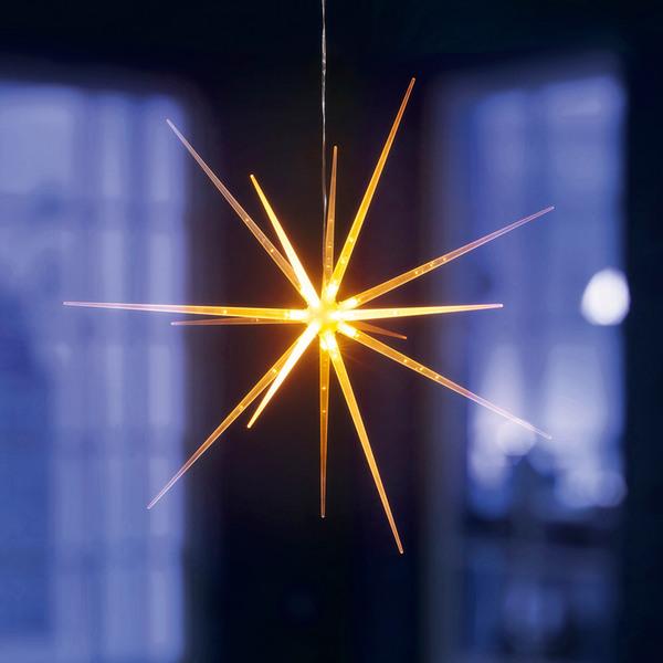 I-Glow LED Acryl-Sternleuchte, Warmweiß