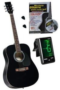 "Clifton Western Gitarre 41"" GS Schwarz"