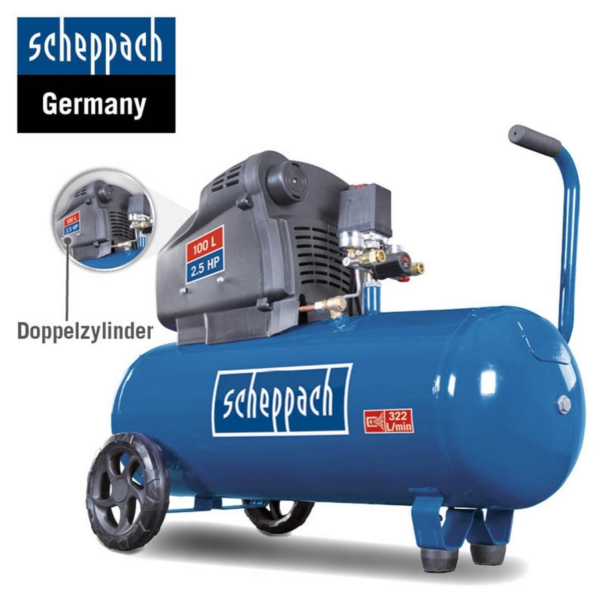 Bild 4 von Scheppach Doppelzylinder Kompressor ölfrei HC105DC