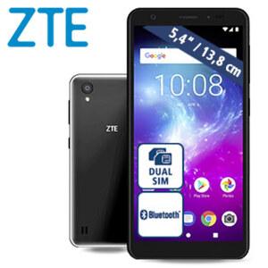 Smartphone Blade™ A5 2019 • 2 Kameras (13 MP/8 MP) • 1-GB-RAM. 16-GB-interner Speicher • microSD™-Slot bis zu 256 GB • nanoSIM • Android™ 9 (Go Edition)