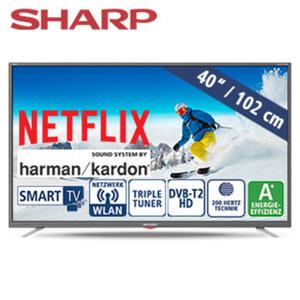 "40""-FullHD-LED-TV 40BG3E • HbbTV • 3 HDMI-/2 USB-Anschlüsse, CI+, SD-Kartenslot • 2 x 10 Watt RMS • Stand-by: 0,5 Watt, Betrieb: 45 Watt • Maße: H 54,1 x B 91,4 x T 7,8 cm • Energie-Eff"