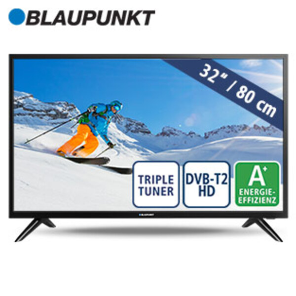 "32""-LED-HD-TV BN32H1012EEB • Auflösung 1.366 x 768 Pixel • 2 HDMI-Eingänge, USB-/CI+-Anschluss • Stand-by: 0,5 Watt, Betrieb: 28 Watt • Maße: H 43,3 x B 73,1 x T 6,8 cm • Energie-Effizie"