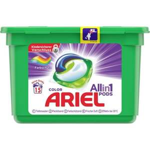 Ariel All in 1 PODS Colorwaschmittel, 15 WL 0.31 EUR/1 WL
