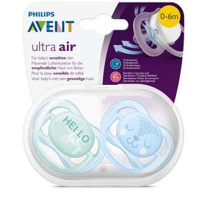 PHILIPS AVENT Beruhigungssauger Ultra Air 0-6 Monate Hello baby & Tier  EUR/