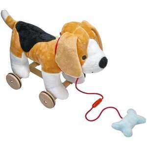 IDEENWELT Kuscheltier Hund zum Ziehen