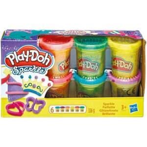 IDEENWELT Play-Doh 6er Pack Knete Glitzer 14.85 EUR/1 kg