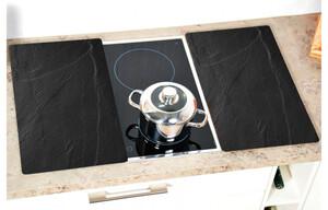 Glas-Abdeckplatte 2-er Set Schiefer ca. 52x30 cm