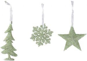 Dekohänger - Weihnachten - aus Kunststoff - 1 Stück - grün
