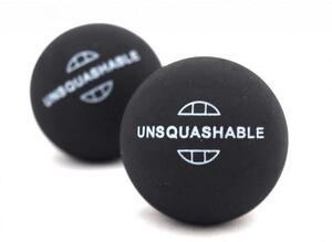 Unsquashable Squash-Ball UNSQUASHABLE gelb,  2er Blisterpack