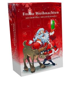 [6,00 € Pfand im Preis enthalten] Bier Adventskalender Santa   24 x 0,5 l Bierdosen