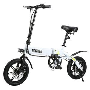 DOHIKER Elektrisches Fahrrad Electric Bike E-Bike Faltrad E-Bike Citybike Elektrofahrrad mit 36V LED Leucht Scheinwerfer 14zoll 25KM/H 250W