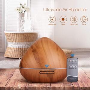 Aroma Diffuser,550ml Luftbefeuchter Ultraschall Vernebler Raumbefeuchter Elektrisch Duftlampe Öle Diffusor mit 7 Farben LED,mehr als 30ml/h Feuchtigkeitsabgabe für Raum,Büro,Yoga,Spa,usw