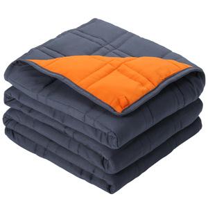LANGRIA Gewichtsdecke Schwere Decke Weighted Blanket 5.4 kg Gewichtsdecke für Erwachsene und Kinder, Beschwerte Decke aus 100% Baumwolle, Schwere Decke für Angst und Schlafstörungen, 122x182cm,