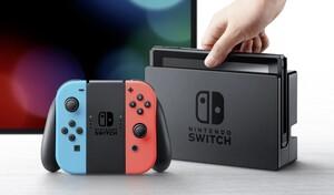 Nintendo Switch Konsole, Farbe: Neon-Rot/Neon-Blau mit verbesserter Akkuleistung