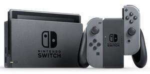 Nintendo Switch Konsole mit verbesserter Akkuleistung, Farbe: Grau