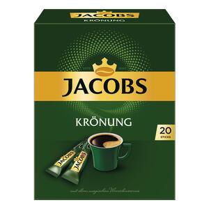 Jacobs Krönung, Instant Kaffee, Getränkepulver zum Aufgießen, 20 Portionen à 1.8 g