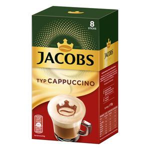 Jacobs Instant Cappuccino, Löslicher Kaffee, Instantkaffee, Löskaffee, 8 Portionen à 14,4 g