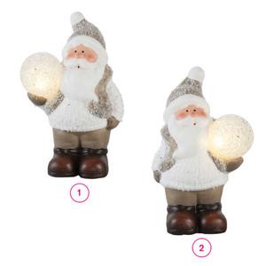 ProVida  Weihnachtsmann mit LED Schneeball in verschiedenen Varianten