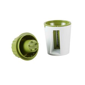 KODi Basic Spiralschneider in grün/weiß incl. Reinigungsbürste