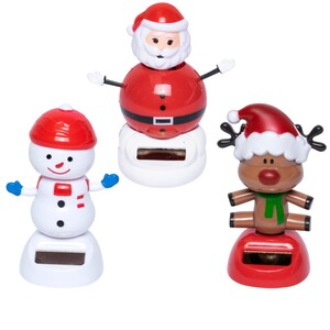 Solar-Weihnachtsfigur aus Kunststoff in drei Ausführungen